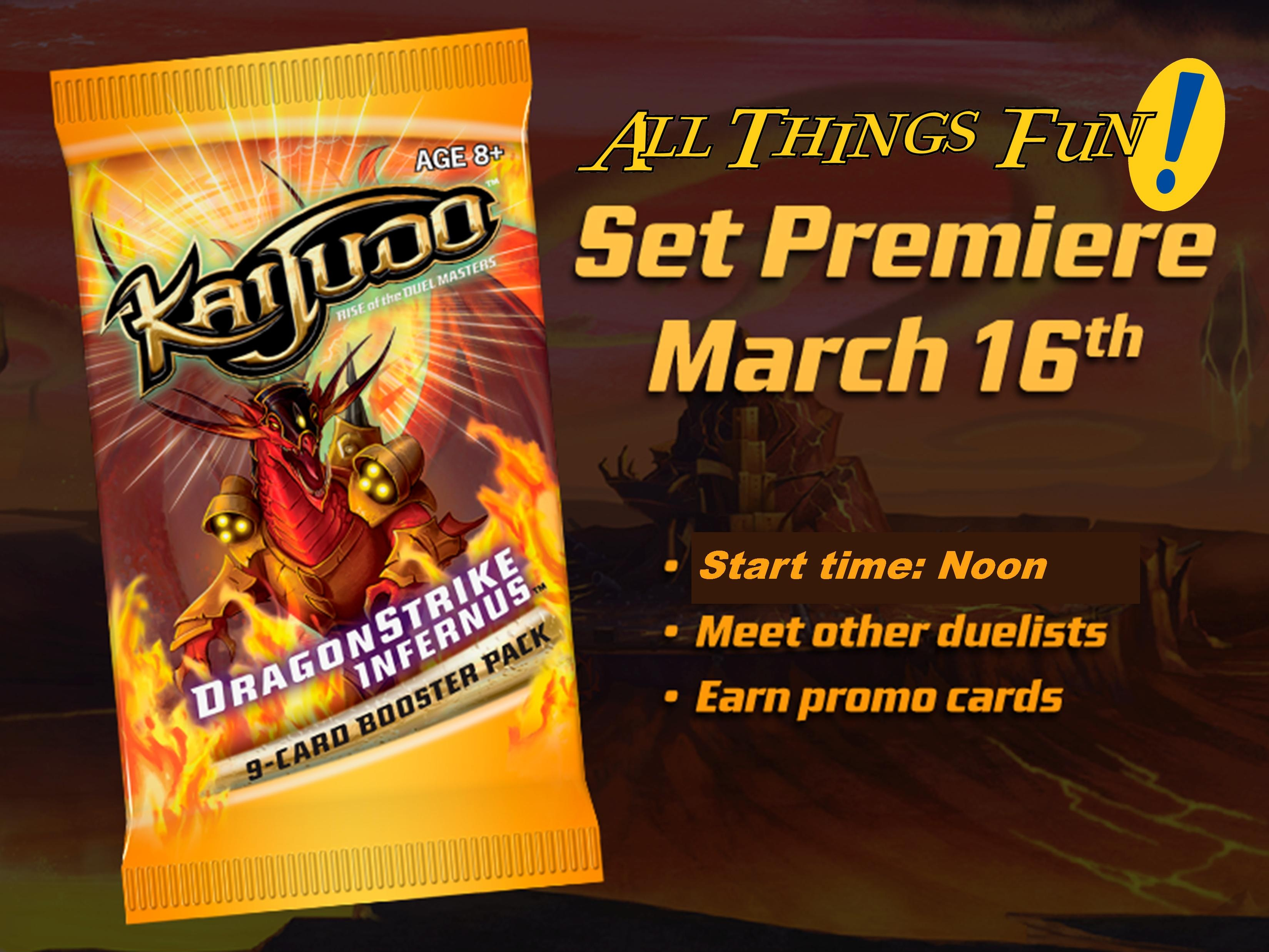 Kaijudo Dragonstrike Infernious Launch Event @ All Things Fun!
