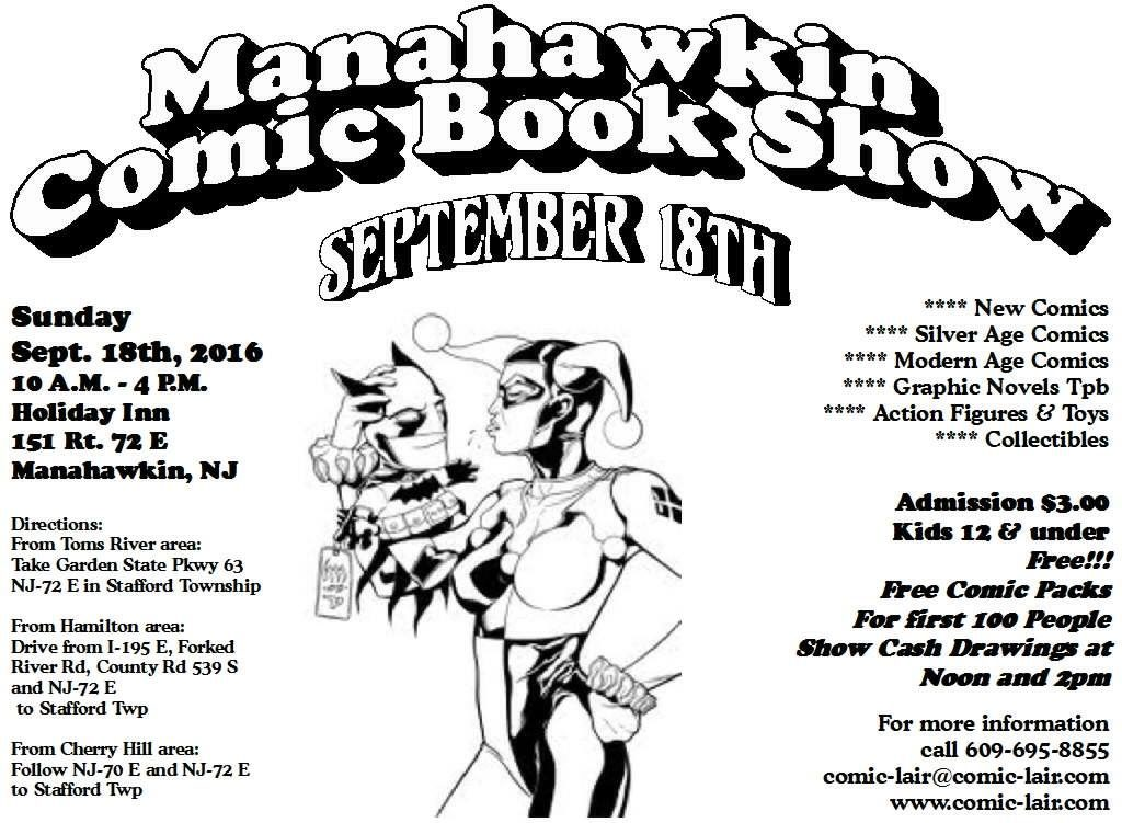 Manahawkin Comic Book Show @ Holiday Inn Manahawkin | Stafford Township | New Jersey | United States